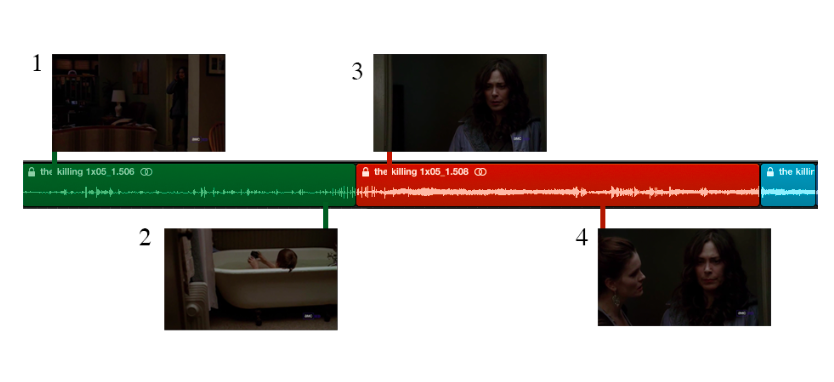 Esquema de un fragmento de The Killing 1x05