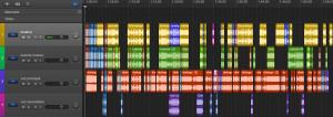 1.1 Representación sinóptica de las intervenciones de diferentes recursos de sonido en Forbrydelsen 1x07